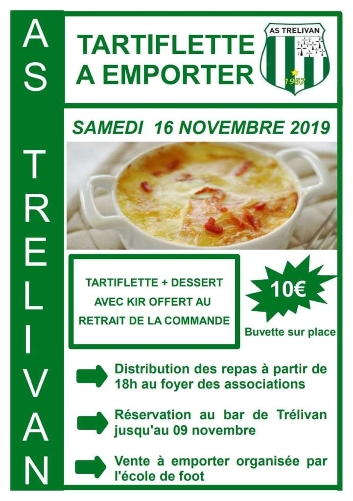 tartiflette, AS Trélivan, football, école de foot